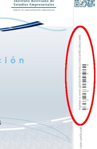 Codigo certificado